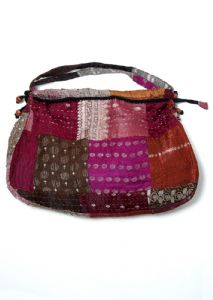 Hippy Bag~Ethnic Large Sari Silk Patchwork Hobo Shoulder Bag~Fair trade by Folio Gothic Hippy SB88